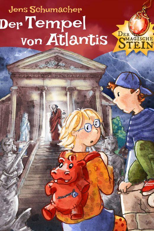 Der magische Stein - Der Tempel von Atlantis - Cover